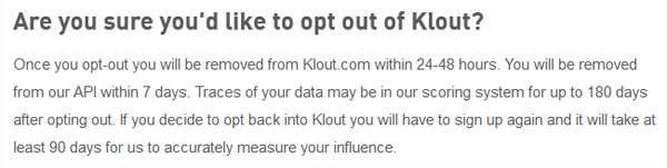 Klout Opt Out